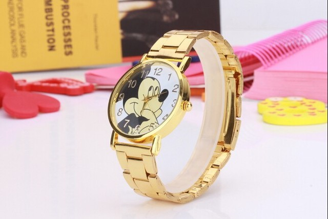 Casual Children Watch Lovely Mickey Boys Girls Like Watches Quality Leather Safe