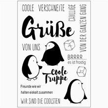 Прозрачный резиновый силиконовый прозрачный штамп для тампонов печать фон коллаж карты изготовления Diy немецкое слово