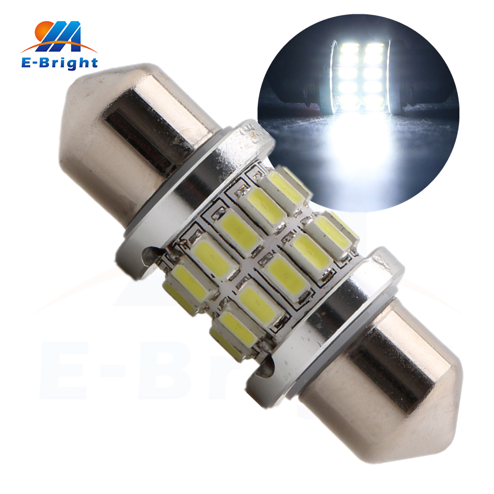 4-50pcs 31mm 3014 28 SMD LED Festoon Lamp Car LED Light Auto Dome Bulbs Double Tip Light Pate Number lights for Cars 12V 280LM