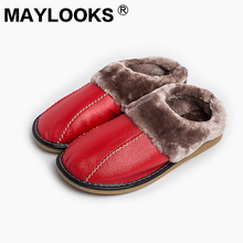 Summer Women's Indoor Slippers Genuine Leather Soft and Comfortable House Slippers Anti-Slip Home Shoes  8819