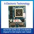 Original Genuine HD7970M GDDR5 2 GB Placa Gráfica Para DELL 216-0836036 Exibição Placa de Vídeo GPU Substituição Testado Trabalho