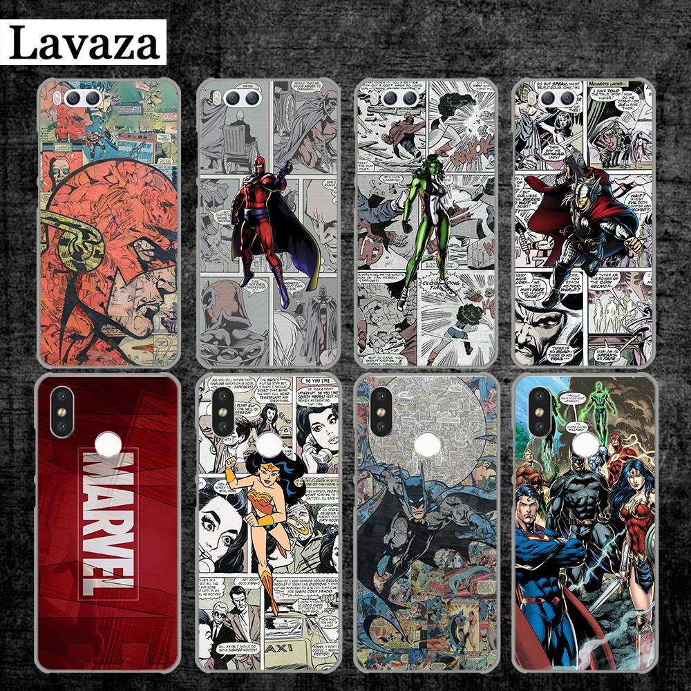 Lavaza Marvel Comics Super Hero Perfect Cool Hard Case for Xiaomi MI 5 5S 6 8 9 SE Lite F1 A1 A2 5X 6X Mix 2S MAX 3