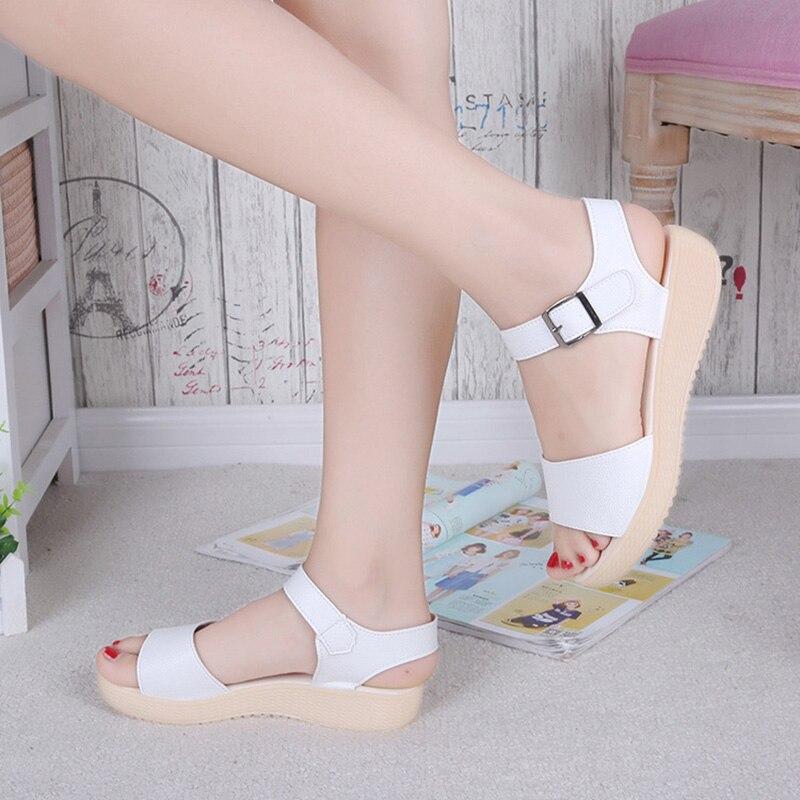 2019 Sommer Strand Sandalen Frauen Schuhe Flachen Weichen Mode Frauen Sandalen Sommer Damen Schuhe Dicke Sohle Nicht-slip Yx769 Schmerzen Haben