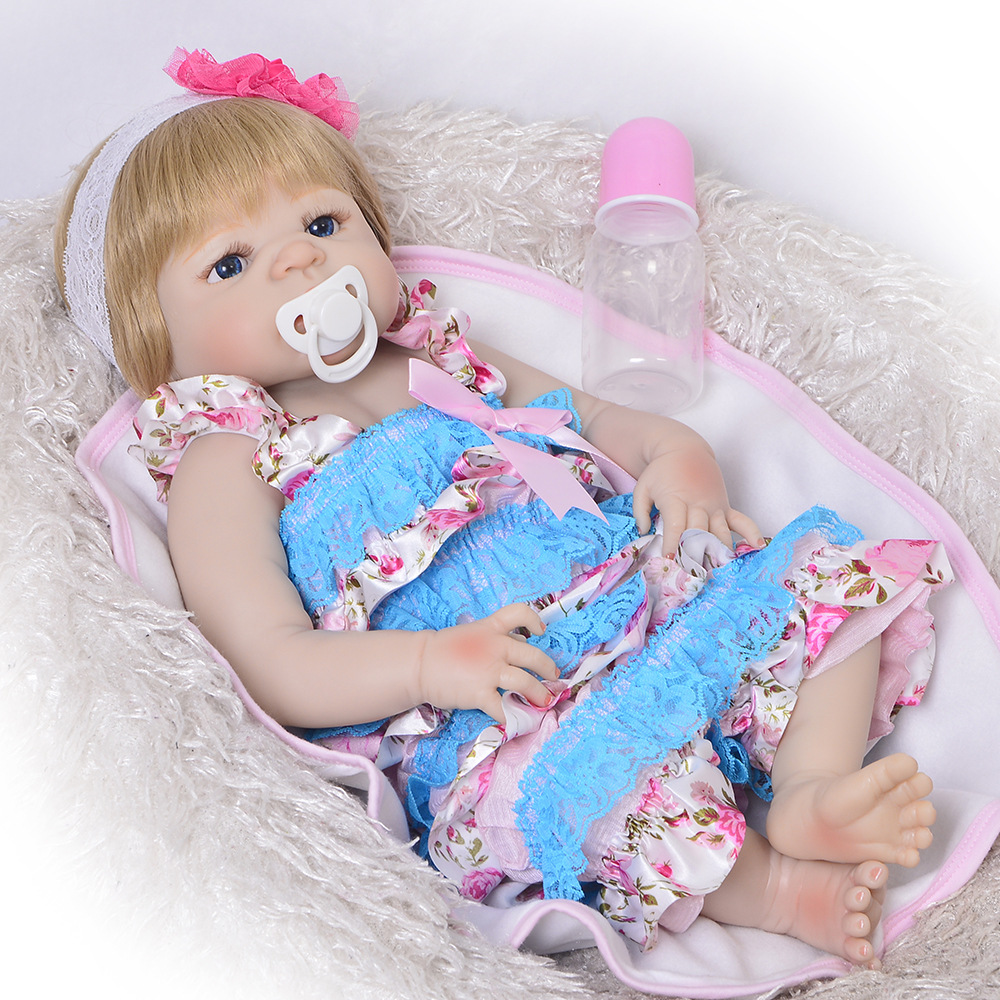 Realistic Baby Doll Girl Newborn Pink Dress Nursery Soft Toys 14 Inches Reborn