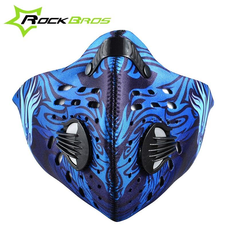 Prix pour ROCKBROS Anti-pollution Vélo Vélo Ville Vélo Masque Cover Sports de Plein Air Bouche-Moufle Antipoussière Accessoires de Plein Air