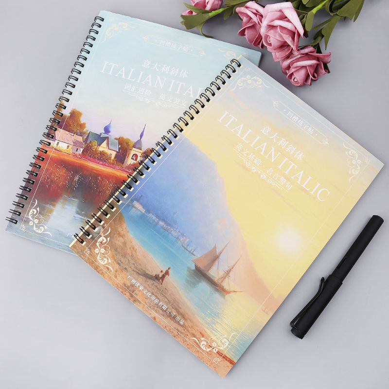 3D Reusable Groove Italian Italic English Letter Alphabet Calligraphy Handwriting Copybook Auto Fades Practice Book For Children