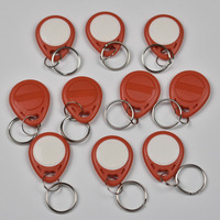 100pcs RFID key fobs 125KHz EM4305 T5577 proximity ABS tags read and write rewritable duplicator copier access control