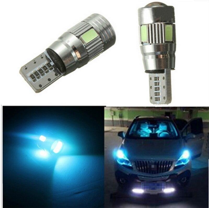 2x T10 501 W5W SMD 6 LED Car Xenon HID White CANBUS Error Free Wedge Light Bulb