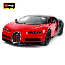 Bburago 1:18 2018 Bugatti Chiron Sport Black & Red Diecast Model Racing Car Toy New In Box Free Shipping NEW ARRIVAL 11044