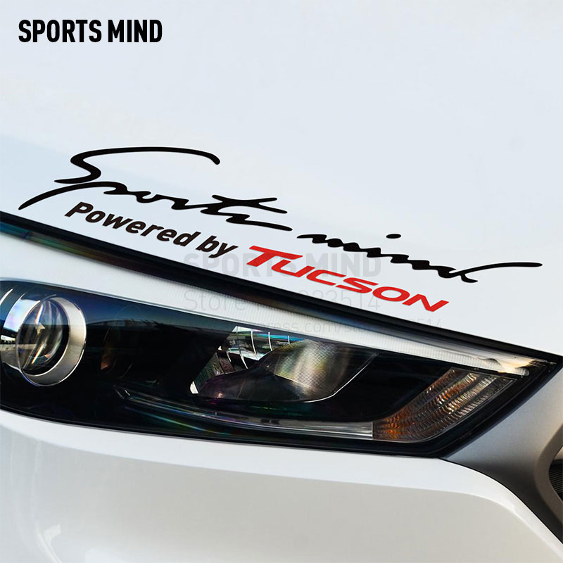 2 Pieces Sports Mind Car Covers Automobiles Car Sticker Decal Car Styling For hyundai tucson 2017 tucson 2008 car accessories