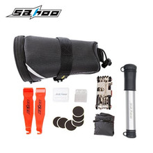 SAHOO Cycling Bicycle Bike Repair Tools Kit Set with Pump Saddle Bag Black For Bicycle Bike Refit Repair Tool 21929