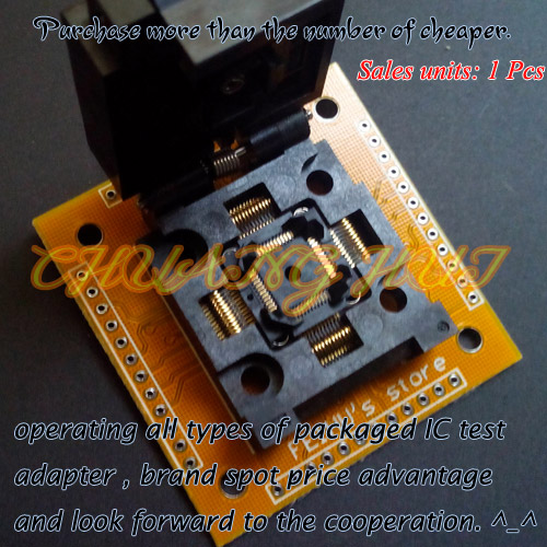 цены IC TEST TQFP48 QFP48 FPQ48 test socket FPQ-48-0.5-06 socket Adapter Pitch=0.5mm Size=7X7mm /9X9mm