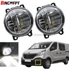Acessórios exteriores do carro h11 lâmpadas de nevoeiro led para renault trafic 2.5l l4 diesel turbocharged amortecedor dianteiro luzes de passagem auxiliares