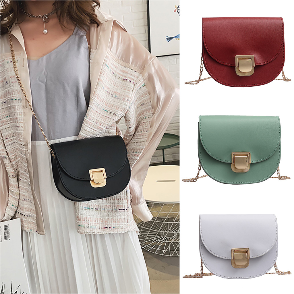 Woman leather Crossbody Bag summer Ladies Retro Countryside Leisure beach chain Bags Casual One Shoulder Small Square Bag,Black,Mini Max Length20cm