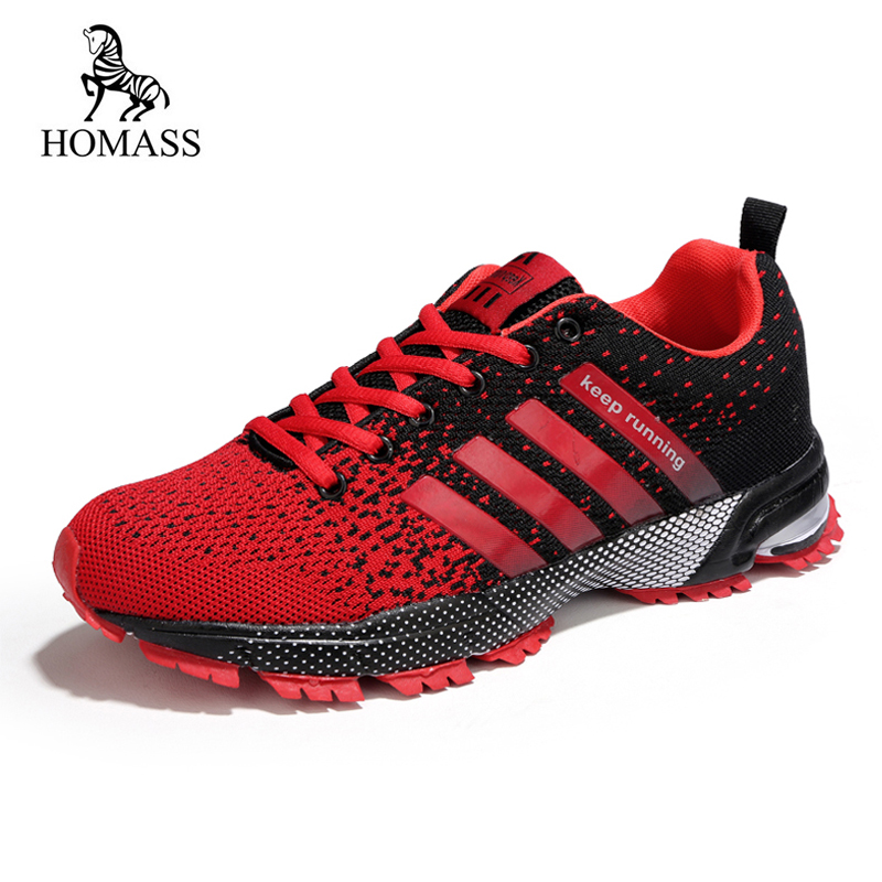 HOMASS Men Sneakers Summer Breathable Mesh Lace-up Unisex Walking Big Size 47 Lightweight Comfortable  Fashion Casual Shoes tênis masculino lançamento 2019