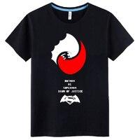 Mens Casual 2016 Movie Batman v Superman: Dawn of Justice Logo Short Sleeve Cotton Printing Pattern O Neck T shirts