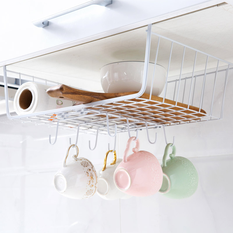 Kitchen Cabinets Under The Basket Compartment Shelves Table Under The Hook  Storage Rack Finishing Rack In Storage Holders U0026 Racks From Home U0026 Garden  On ...