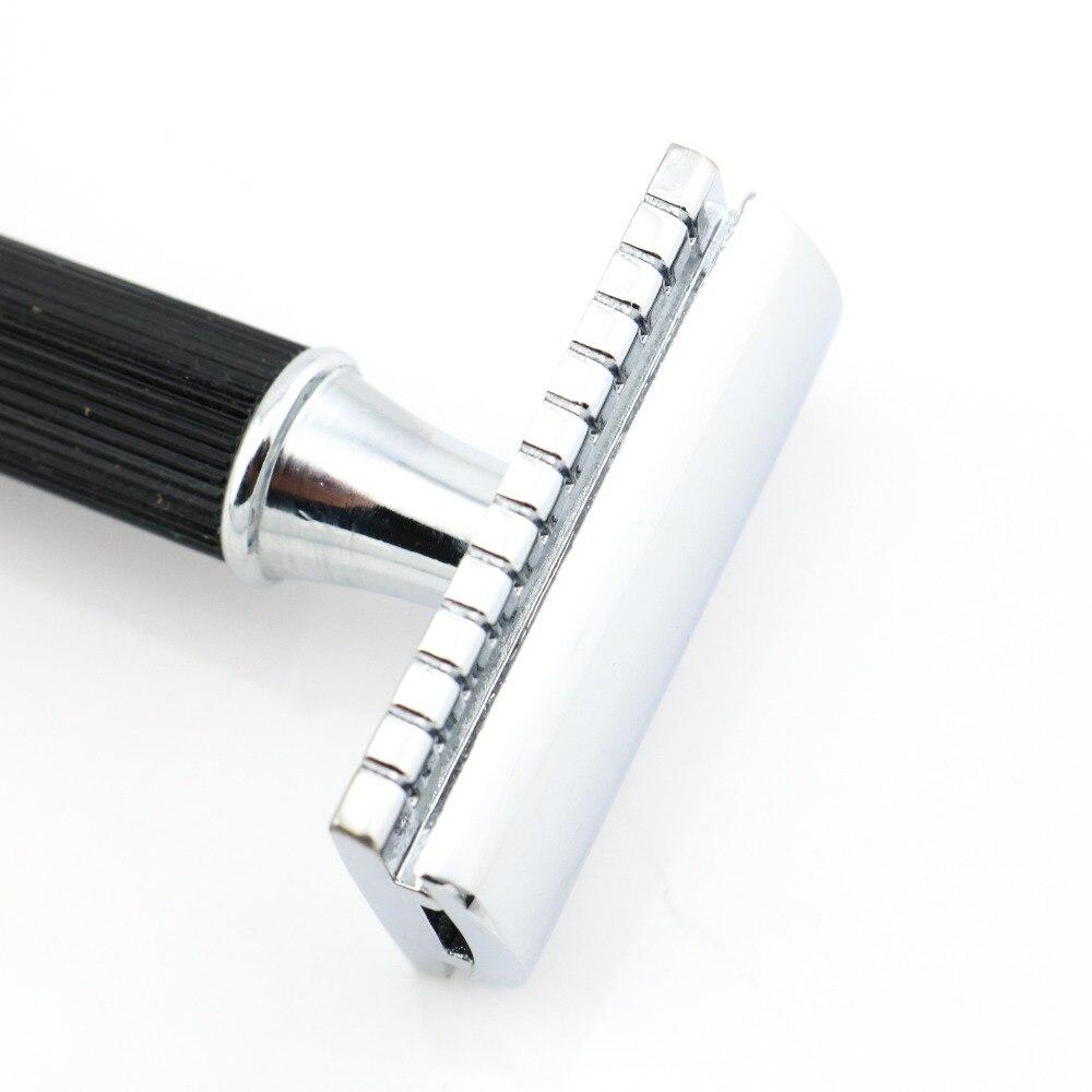 Double Edge Safety Razor Rakning Razor Svart Handtag Manuell Razor - Rakning och hårborttagning - Foto 5