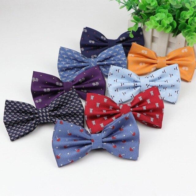 Человек детей галстук-бабочка из полиэстера велосипед зонтик собака автомобиль галстук Для мужчин отдыха бабочка вечерние рубашки галстук, бабочка аксессуары для галстуков