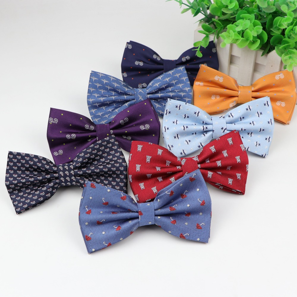 Man Children Polyester Bow Ties Bike Umbrella Dog Car Tie Men Leisure Butterfly Party Shirts Bowknot Bowtie Cravats Accessories