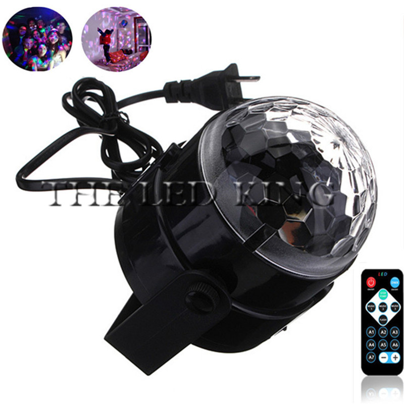 Disco Lights LED Mini Colorful Projection Lights Voice-activated Remote Control Magic Ball Stage Lighting DJ Voice-activated Light Flash Christmas Party Lights 112