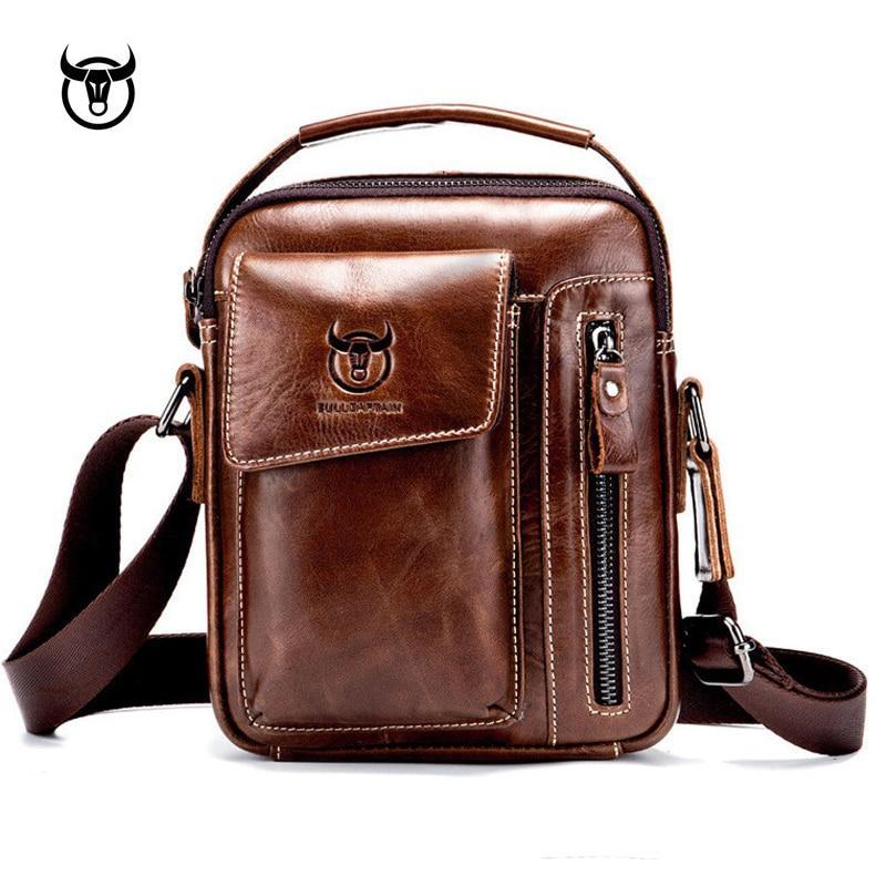 Messenger-Bags Crossbody-Bag Casual Handbag Vintage Men's Male for Man