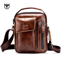 Genuine Leather men's Crossbody bag Vintage cow leather man Messenger Bags Small Shoulder bag for male Casual handbag(China)