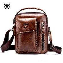 Novo couro genuíno dos homens crossbody bolsa de ombro do vintage saco do mensageiro para o sexo masculino pequena bolsa casual