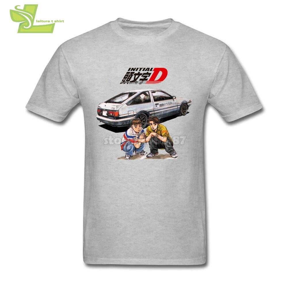 Youth comics 이니셜 d 화이트 t 셔츠 남성용 라운드 넥 반팔 티 new arrival personalized t shirts