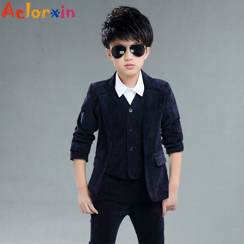 Aelorxin Children Clothing Boy Suits Child Corduroy Suits Jacket + Vest +  Trousers Three piece Suit Kids Clothes Boys Clothes-in Clothing Sets from  Mother ... 9b5b4f92245a