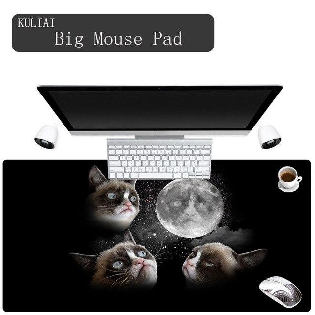 Kuliai Custom Cat 300x700x2mm Rubber Mouse Pad Hello Kitty Wallpaper