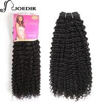 Joedir Ön-Renkli Moğol Afro Kinky Kıvırcık Saç Örgü Demetleri Doğal Siyah İnsan Saç Demetleri 1 ADET 100g saç Uzantıları