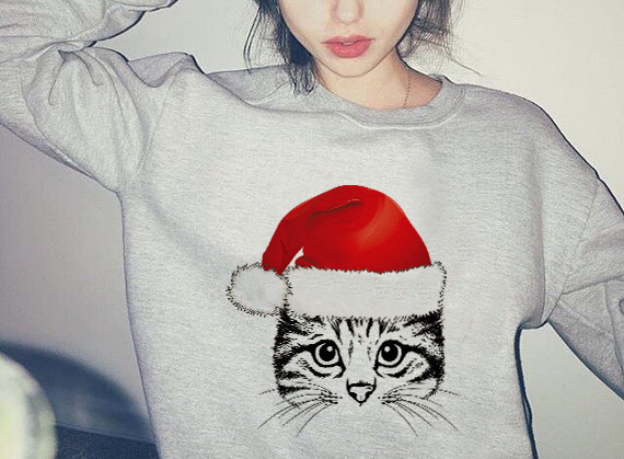 Santa Hat Christmas Gifts Funny Shirts Gift Ideas Sweatshirt ...
