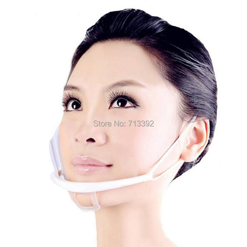 10Pcs Transparent Plastic Permanent Mouth Face Mask For Tattoo Cleaning Supplies Permanent Makeup Tattoo Accessory