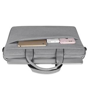 Image 5 - Forro de manga bolsa para portátil caso para macbook ar pro retina 13 14 15.6 Polegada portátil portátil alça ombro computador mão saco