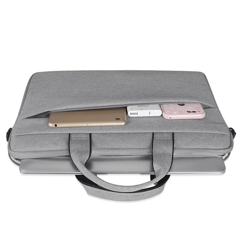 Image 5 - Женская сумка для ноутбука с вкладышем, чехол для Macbook Air Pro retina 13 14 15,6 дюймов, сумка для ноутбука на плечо, сумка для компьютера-in Сумки и чехлы для ноутбука from Компьютер и офис