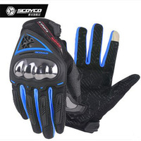 2018 New SCOYCO Can Touch Screen MC44 Summer Breathable Wearable Motorcycle Gloves Full Finger Motorbike Riding