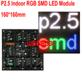 P2.5 Крытый RGB СВЕТОДИОДНЫЙ Модуль 160*160 мм 64*64 пикселей для полного светодиодный дисплей Прокрутки сообщение ПРИВЕЛО знак P2.5 SMD LED дисплей