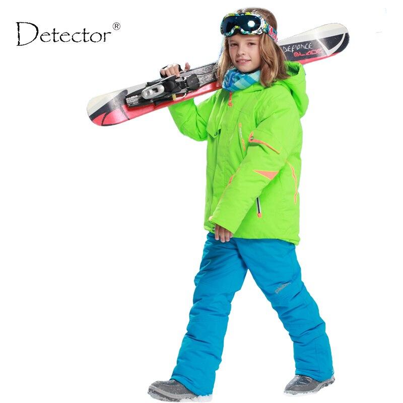 Enfants vêtements hiver ski costume coupe-vent 5000ski vestes + pantalon enfants hiver neige filles vêtements garçons vêtements plein air-20-30 degrés