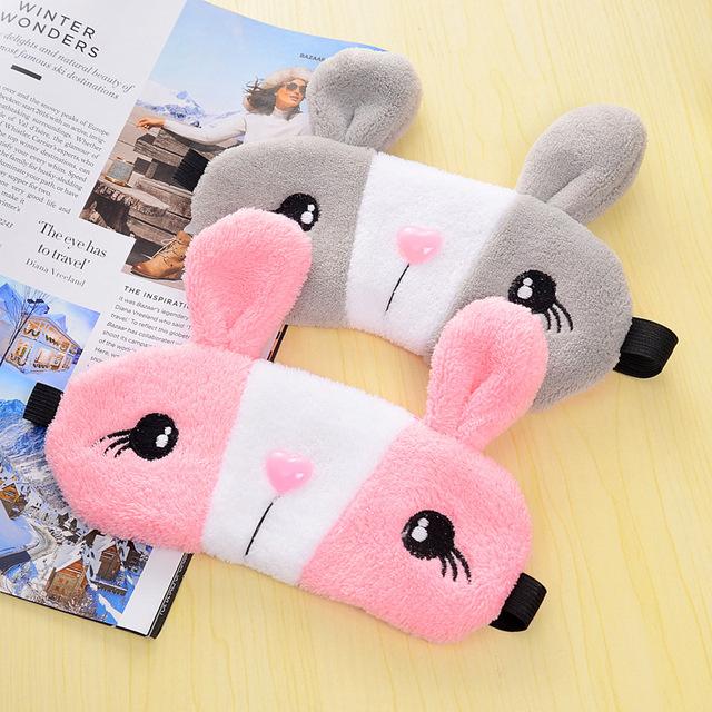 Cute Rabbit Sleep Masks with Gel Pad
