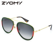 e9933399a Oversized Oval Men Women Sunglasses Goggles Brand Designer Eyewear  Accessories Big Frame Little Bee Oculos De Sol 2018 Fashion