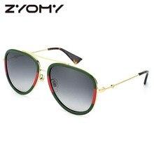 f6359cbce753b Oversized oval homens mulheres óculos de sol marca designer óculos  acessórios grande quadro pouco abelha oculos sol 2018 moda