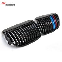 E90 E91 Front Kidney Racing Grill For BMW 3 Series Gloss Black M 316d 320d 323i 325d 325i 328i 330i 335i