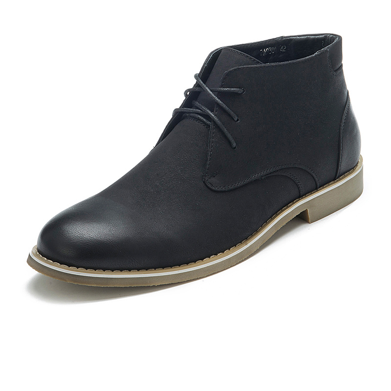 Mens Chukka Desert Boots  Round Toe Lace-Up Martin Boot  Male  Footwear Cow Muscle Bottom  Italian Fashion Mens Shoes