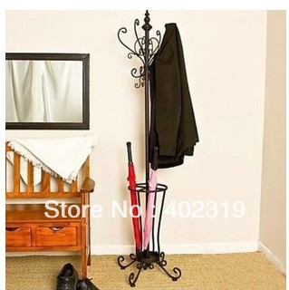Professional Ing Umbrella Stand Rack Wrought Iron Metal Coat Clothes For Storage Free Shipping By Ems In Stands From Home