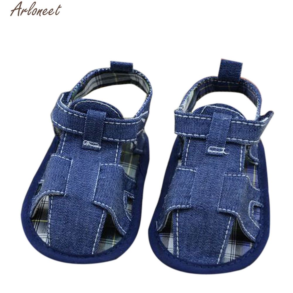 2017 new Kids children baby shoes baby boy shoes Solid cowboy Newborn Cloth Shoes high quality
