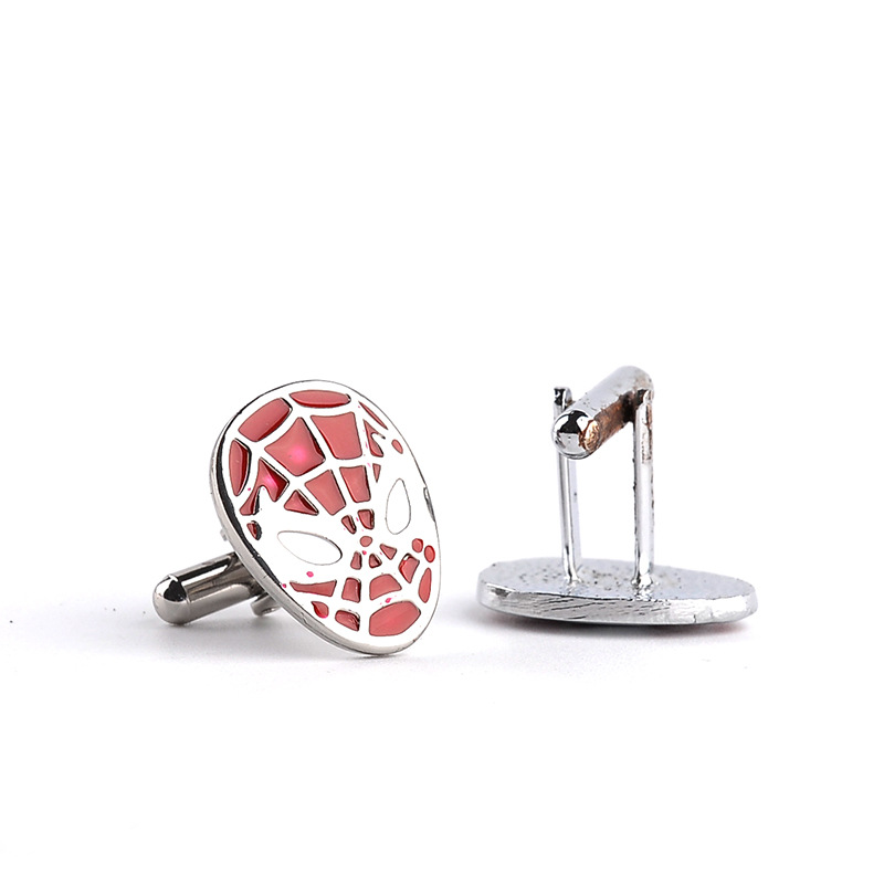 2016 New Arrives Spider-Man <font><b>Mask</b></font> Cuff Link Gemelos French <font><b>Shirt</b></font> Sleeve Button <font><b>Spiderman</b></font> CuffLinks For Men Wholesale