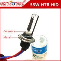 SKYJOYCE AC מתכת אביזרי רכב H7R hid נורות קסנון hid קרמיקה H7R 4300 K 5000 K 55 W H7R קסנון hid מנורת רכב סטיילינג