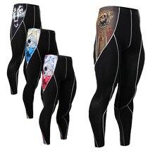 Men's Compression Pants Tight Long Pants Joggers 3D Prints Elastic Leggings Quick Dry Dance Wear Fashion Workout Trousers