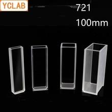 YCLAB 100 мм Cuvette 721 стеклянная ячейка колориметр лабораторное химическое оборудование